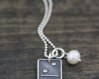 our family domino necklace