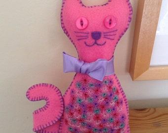 Felt Cat   Pink Cat