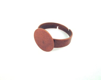 10mm ring base, copper plated, pick your amount, A79