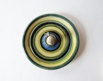 Rainbow Stripes Ring Dish,  Ring Bowl, Wheel Thrown Pottery