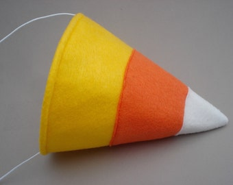 Candy Corn Party Hat - Halloween Party Hat - Halloween Costume Accessory - Candy Headpiece