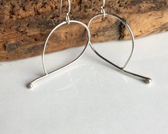 Sterling Silver Hoops, Big Hoops, Large Hoops, Unique Hoops, Everyday Hoops, Artisan Earrings, Minimal Earrings, Modern, Simple Earrings