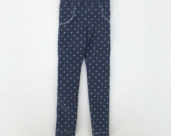 doll jeans blue dots