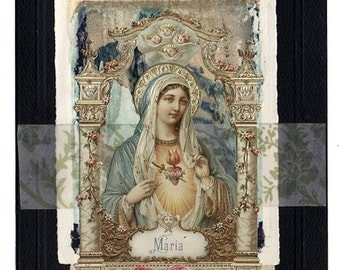 Gift of Peace Mary Sympathy Collage Greeting Card