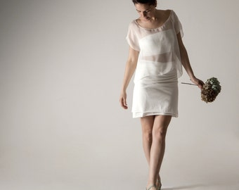 Wedding dress, Short wedding dress, Wedding separates, Simple wedding dress, Reception dress, Casual wedding dress, Alternative wedding