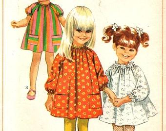 Simplicity 7402 VINTAGE 1960s Girl's Size 4 Cute 'n Darling Dress  ©1967