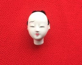 Japanese Doll Head - Hina Matsuri - Japanese Doll Festival - Boy Head - Man's Head - Vintage Doll Head - Small Size D12-4