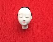 Japanese Doll Head - Hina Matsuri - Japanese Doll Festival - Boy Head - Man's Head - Vintage Doll Head - Small Size D12-4