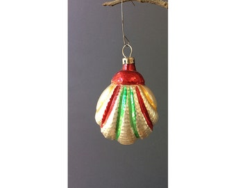 Mercury Glass Shell Ornament - Vintage Mercury Glass Ornament - West Germany