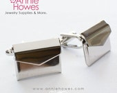 Envelope Cuff Links. Wedding Party, Father of the Bride, Groom Cuff Links.