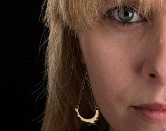 Porterness Studio Bronze Earrings on Sterling Silver Findings - Bitey
