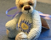 Thread Miniature Crochet Bear by Jessica Lee's Little Creations