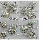 Choose 3 Bridal Hair Pins Pearl bobby Pins Wedding Hair Clip Bridal Hair Pin Rhinestone Bobby Pin Wedding Hair Pins Bridesmaid hair clip