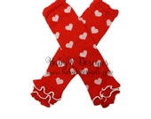 Baby Girls RED Heart Leg Warmers. Newborn Holiday Knit Legwarmers / Footless Socks / Winter Dance Dress Up Cheer   Costume Birthday Outfit