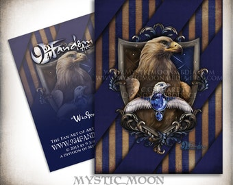 Wisdom... ACEO / ATC...Ravenclaw Inspired Collectors Card.. Inspired by Harry Potter Hogwarts House