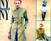 Mandarin collar Jacket shirt vest and pants NY collection sewing pattern McCalls 9626 Size 12 Uncut