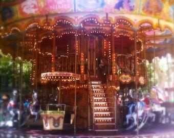 "Carousel, Avignon - Archival Photograph - 6x6"", 8x8"", 10x10"" - Watercolour Paper"