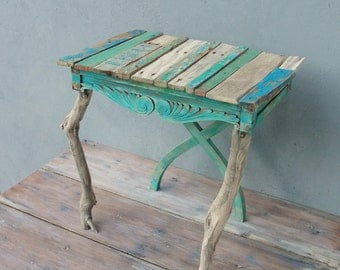 Driftwood Table, Boatwood Side Table, End Table With Driftwood And  Boatwood, Wooden Furniture
