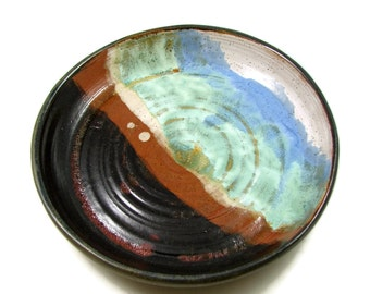 Ceramic Platter / Plate - Wheel Thrown Art Serving Dish - Ceramic Clay Pottery Wall Art - Ready to Ship