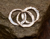 Two Plain Rustic Links in Sterling Silver, 446
