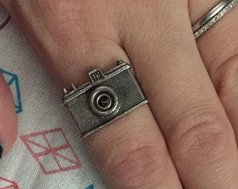 silver camera ring (adjustable)