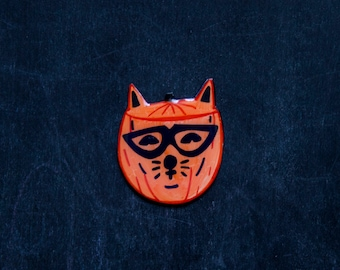 Cat-o-Lantern Brooch / Pin - Hallowqueen Collection