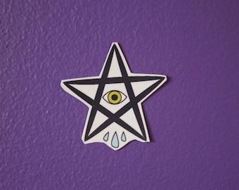 Sad Star Temporary Tattoo