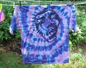 Custom Order for Ana Jimi Hendrix Shirt Purple Haze Floating Psychedelic Purple Spiral Tie Dye Size Large