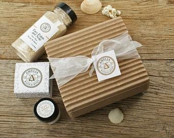 Lovely Face Set | Face Care, Facial Scrub, Facial Soap, Eye Cream, Natural Skincare, Facial Skin Care Set, Vegan Gift | Three Product Set