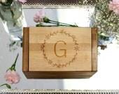 Recipe Box, Custom Recipe Box, Personalized Recipe Box Engraved Wood Recipe Box --28535-RB01-001