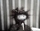 "Goth art doll accessory BJD prop miniature creepy cute ""Amy"" party favor goth"