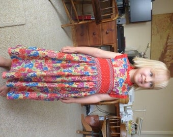 Size 2/3 Hand Smocked Dress