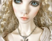 BJD Antiqued Silver Fairy Charm Necklace SD EID Doll Jewelry