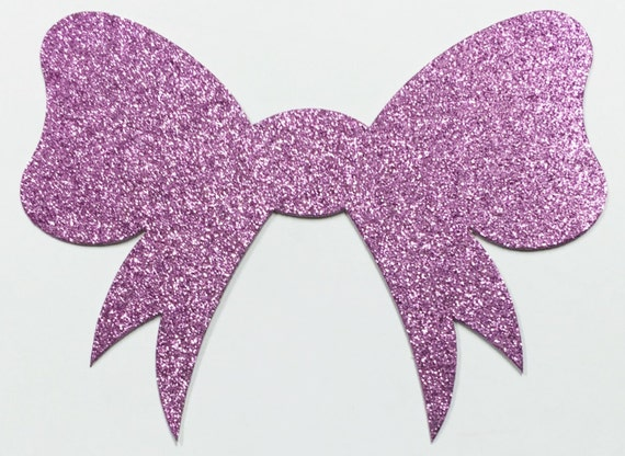 Glitter Bow Lilac Pink Card Stock - 6 x 4-1/2 Inch Size - 8 Pieces - Scrapbook, Art, Craft, Paper, Greeting, Mixed Media, Collage, Girls