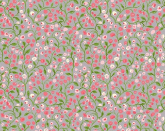 Monaluna Bloom Climbing Rose Organic Cotton Fabric Floral