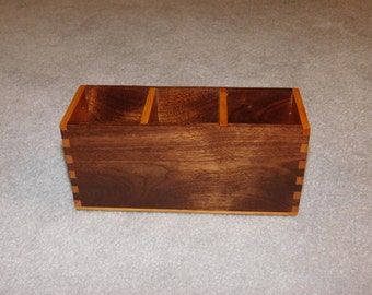 Desk Organizer / Office Desk Caddy - Walnut & Cherry
