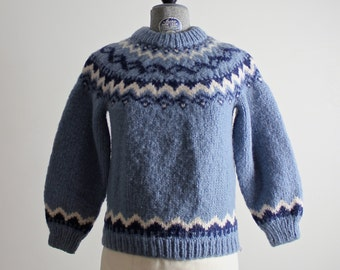 Scandinavian Sweater • Wool Sweater • Cowichan Sweater • Ski Sweater • Ski Lodge Sweater • Fair Isle Sweater • Blue Sweater • Yoke Sweater
