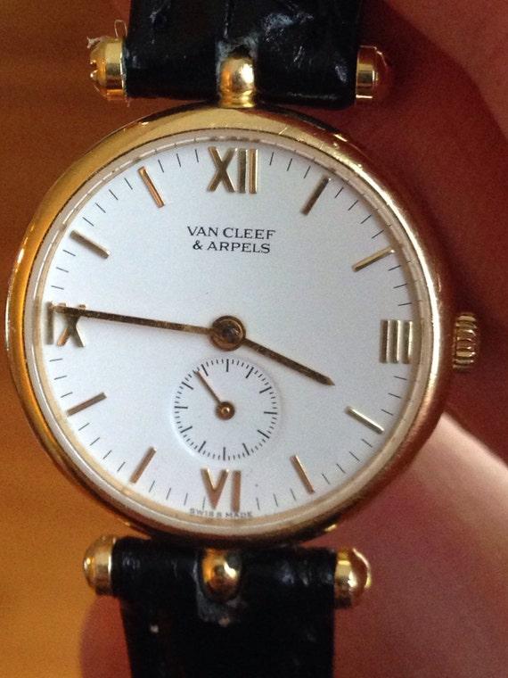 18K Van Cleef & Arpels Paris 'La Collection' Watch 750 Gold 18 KT (running)