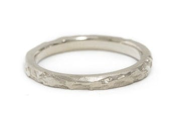 Women's Rustic Textured Wedding Band