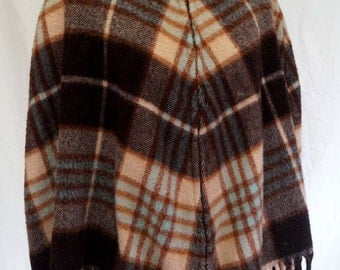 Mad for Plaid! 1950s/1960s Classic Wool Cape