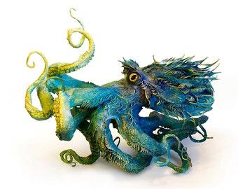 "strange and gentle VII - octopus - Original Giclee Edition Print - 13x19"""