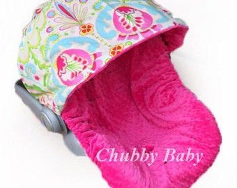 SHIPS TODAY- Infant Car Seat Cover, Baby Car Seat Cover in Kumari Garden for Chicco only