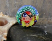 Handmade lampwork bead focal  |  Going Back to Being a Pirate: Carla The Unbreakable |  SRA  |  artisan glass |  Silke Buechler