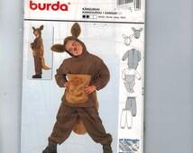 Kids Sewing Pattern Burda 2762 Kids Kangaroo Costume Boys Girls Size 4 5 6 7 8 9 UNCUT