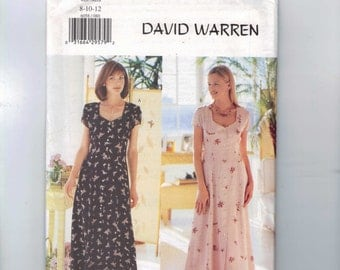 Misses Sewing Pattern Butterick 6058 Misses and Petite Misses Dress Button Front with Sweetheart Neckline Size 8 10 12 UNCUT  99