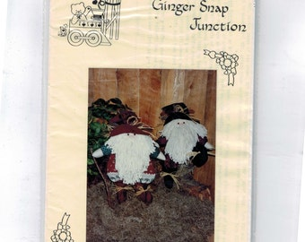 Craft Doll Sewing Pattern Ginger Snap Junction Woodland Elves Folk Art Doll Christmas Holiday Xmas Decor UNCUT