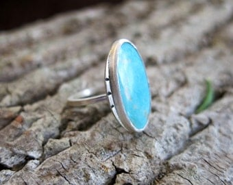 Depth Sterling Silver Turquiose Ring