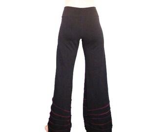 Sunburst Serged Black Pants