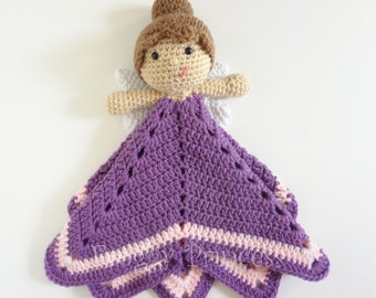 Fairy Lovey Ready To Ship - Hand Crocheted Stuffie Blanket Gifts For Children