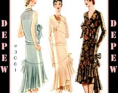 Vintage Sewing Pattern Reproduction Ladies' 1920's Maggy Rouff Couture Dress #3061 - INSTANT DOWNLOAD